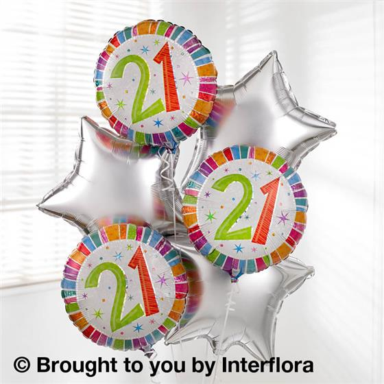 21st Birthday Balloon Bouquet Floral Expression Florist Leeds